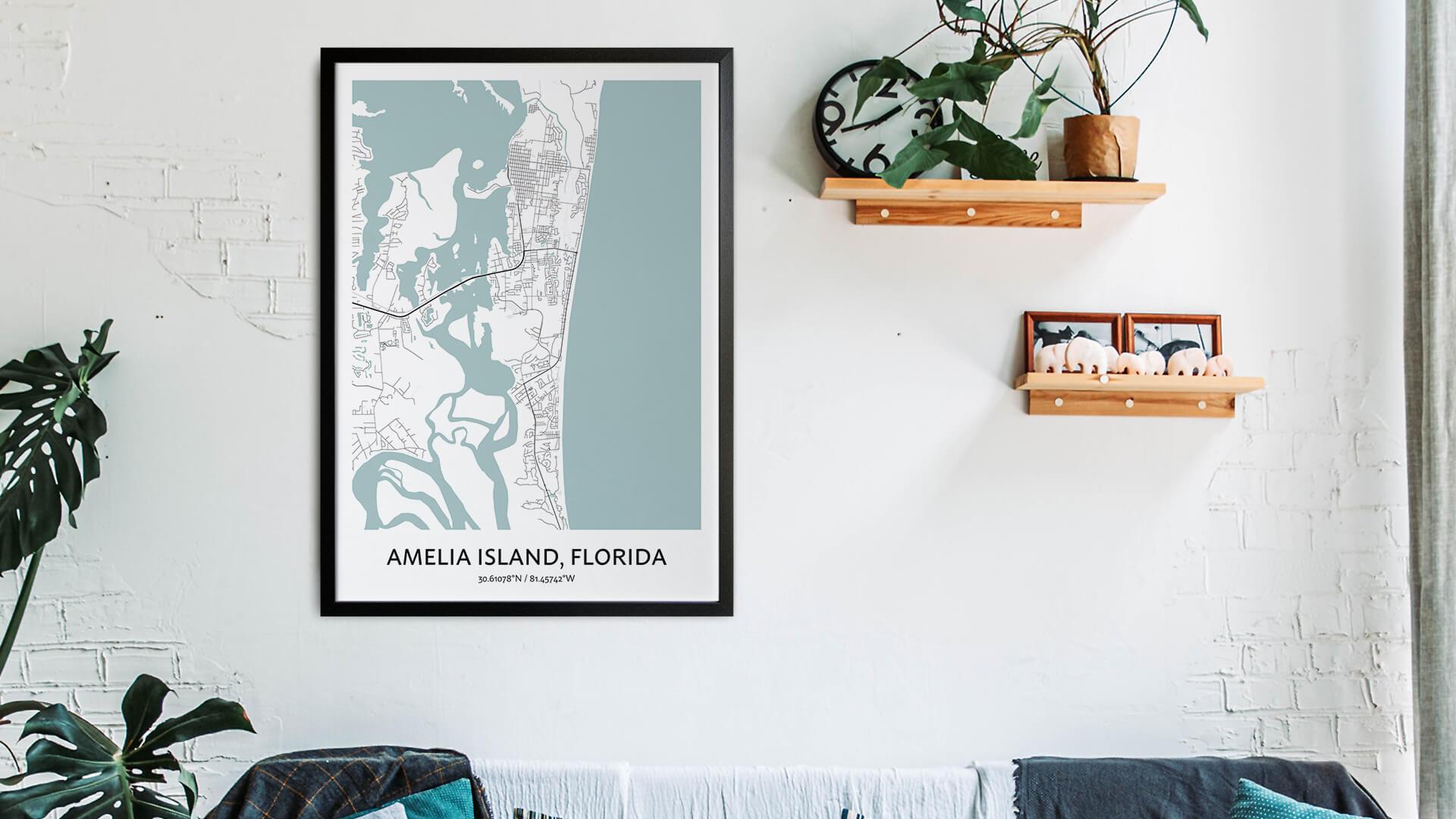 Amelia Island map art