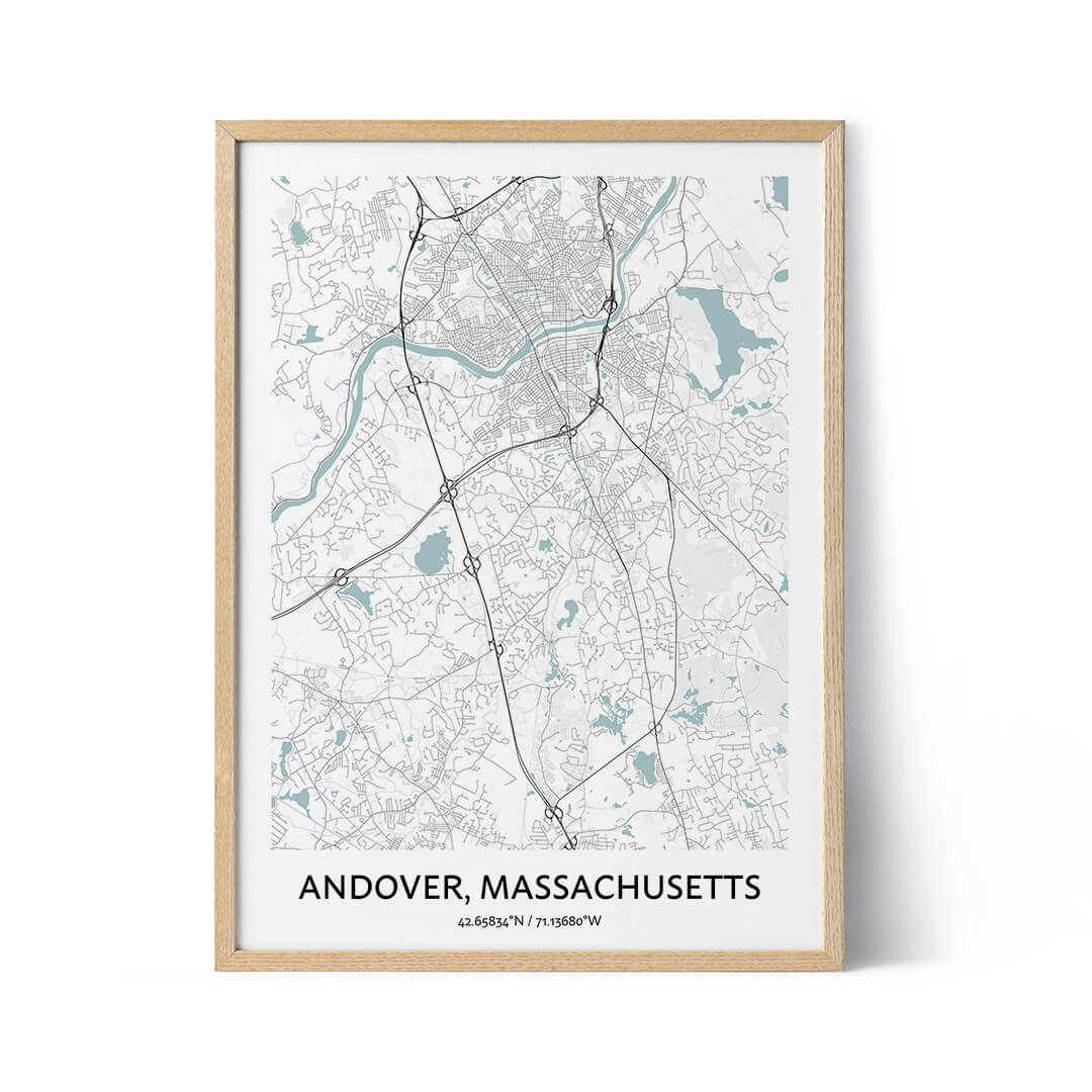 Andover City Map Poster