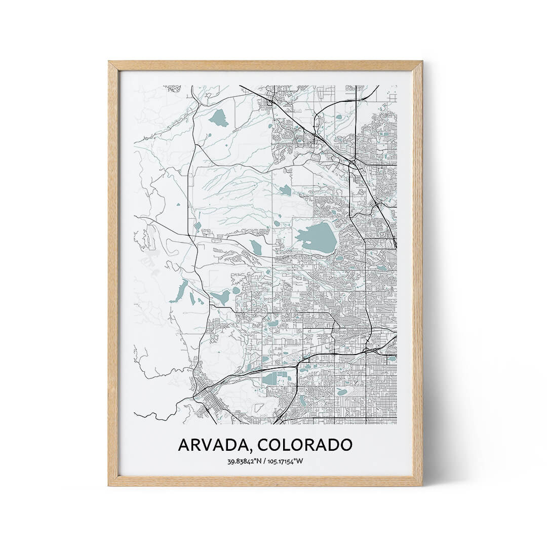Arvada city map poster