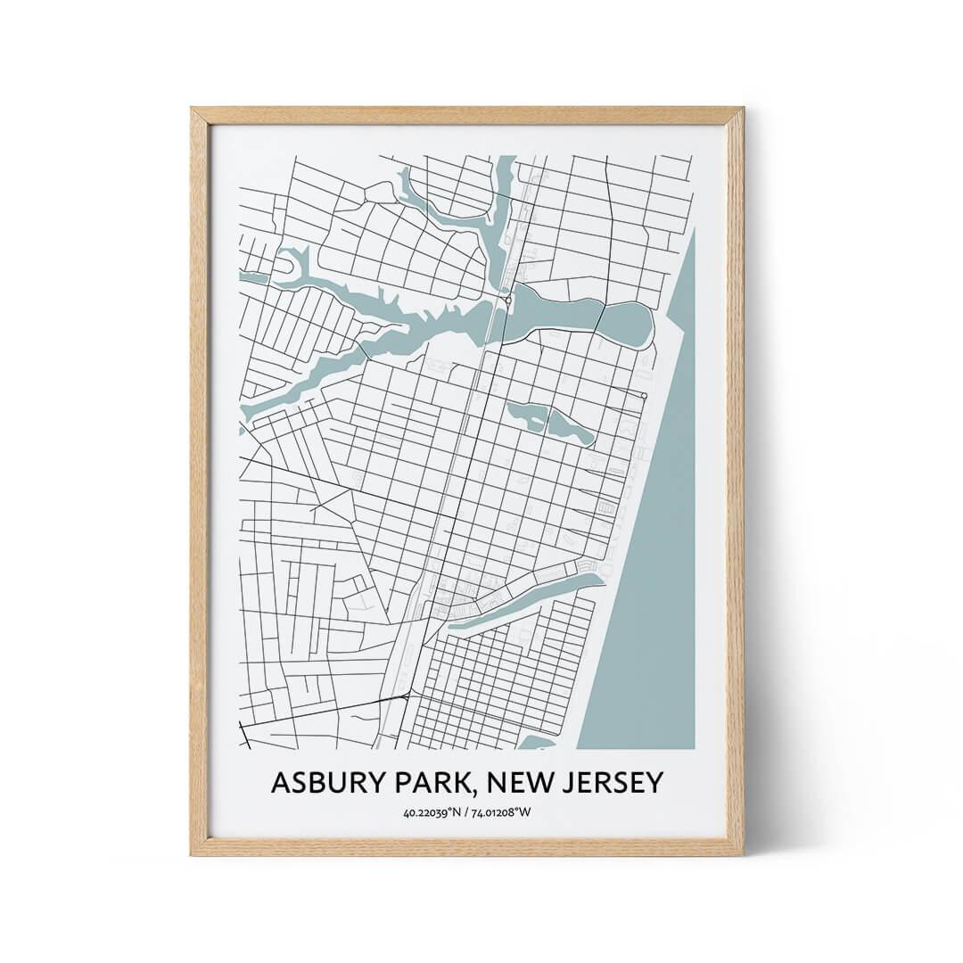 Asbury Park city map poster