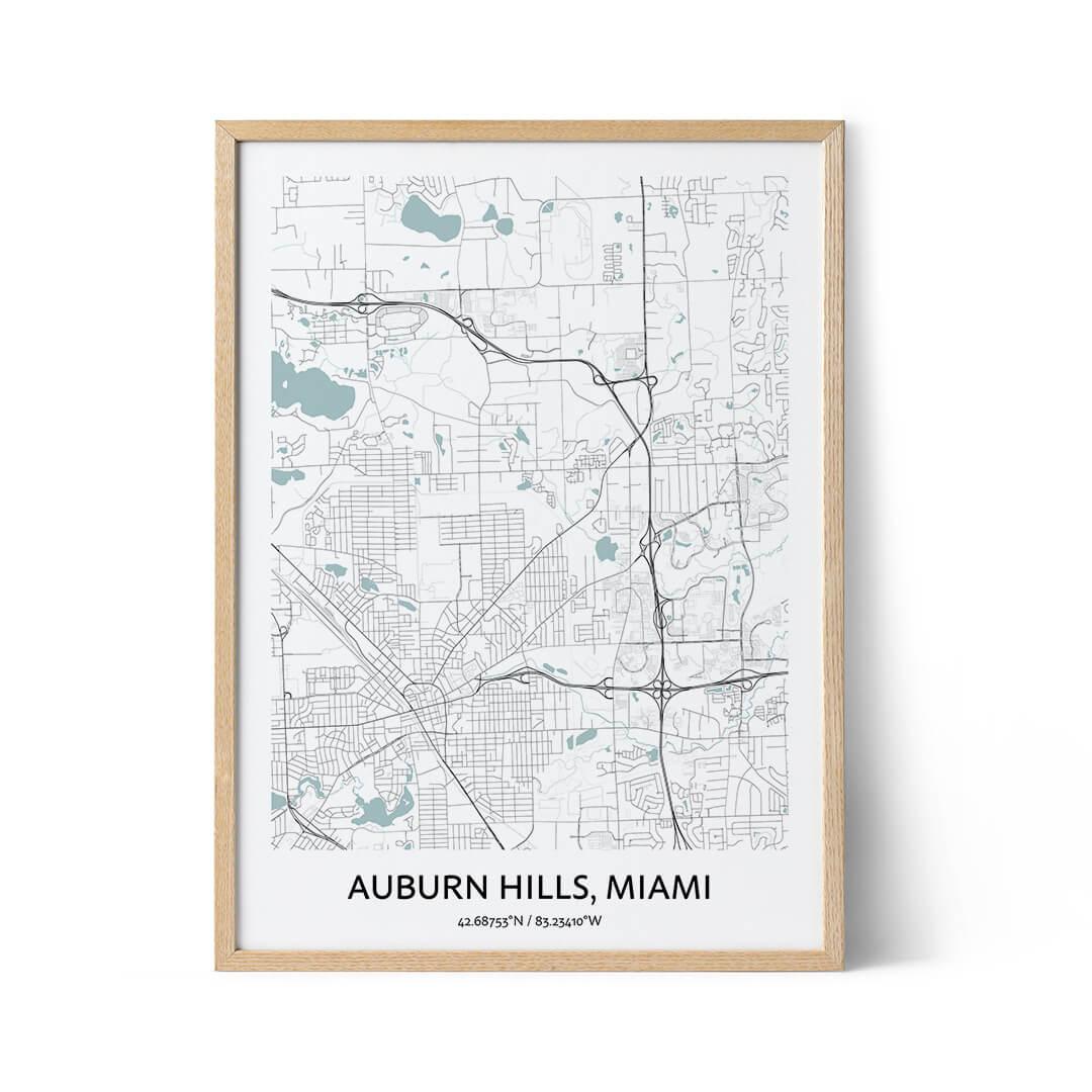 Auburn Hills city map poster