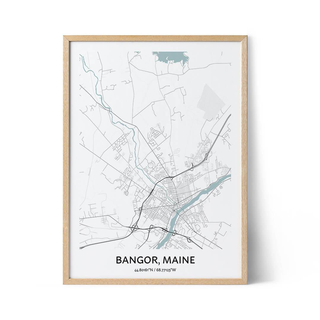 Bangor city map poster