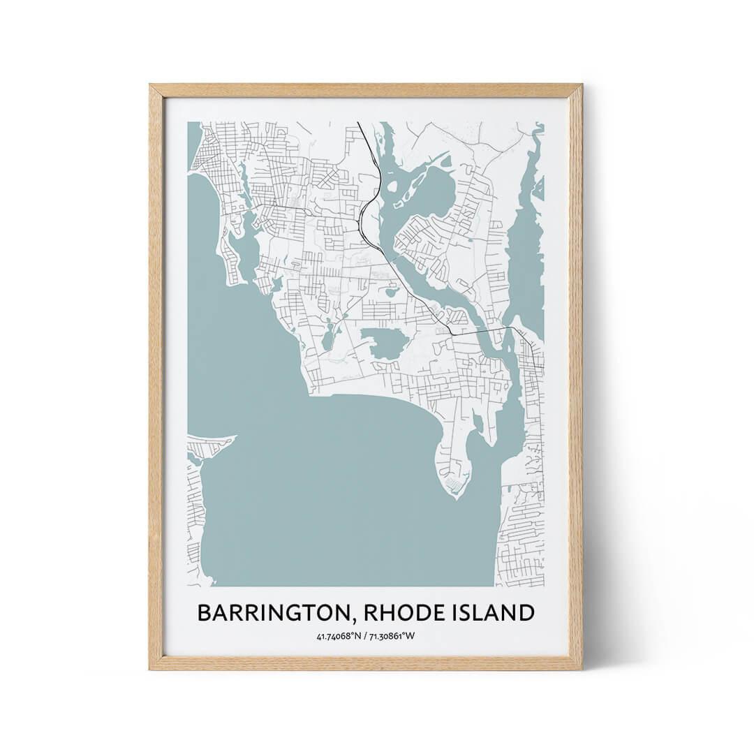 Barrington city map poster