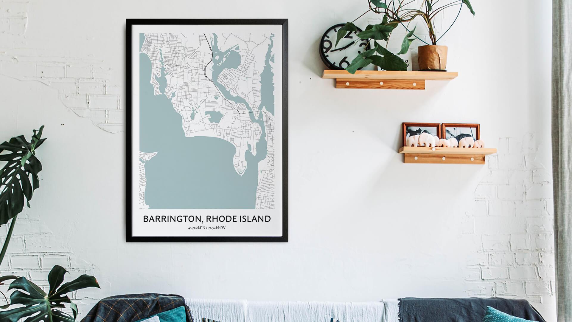 Barrington map art