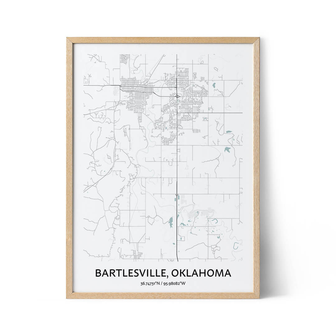 Bartlesville city map poster