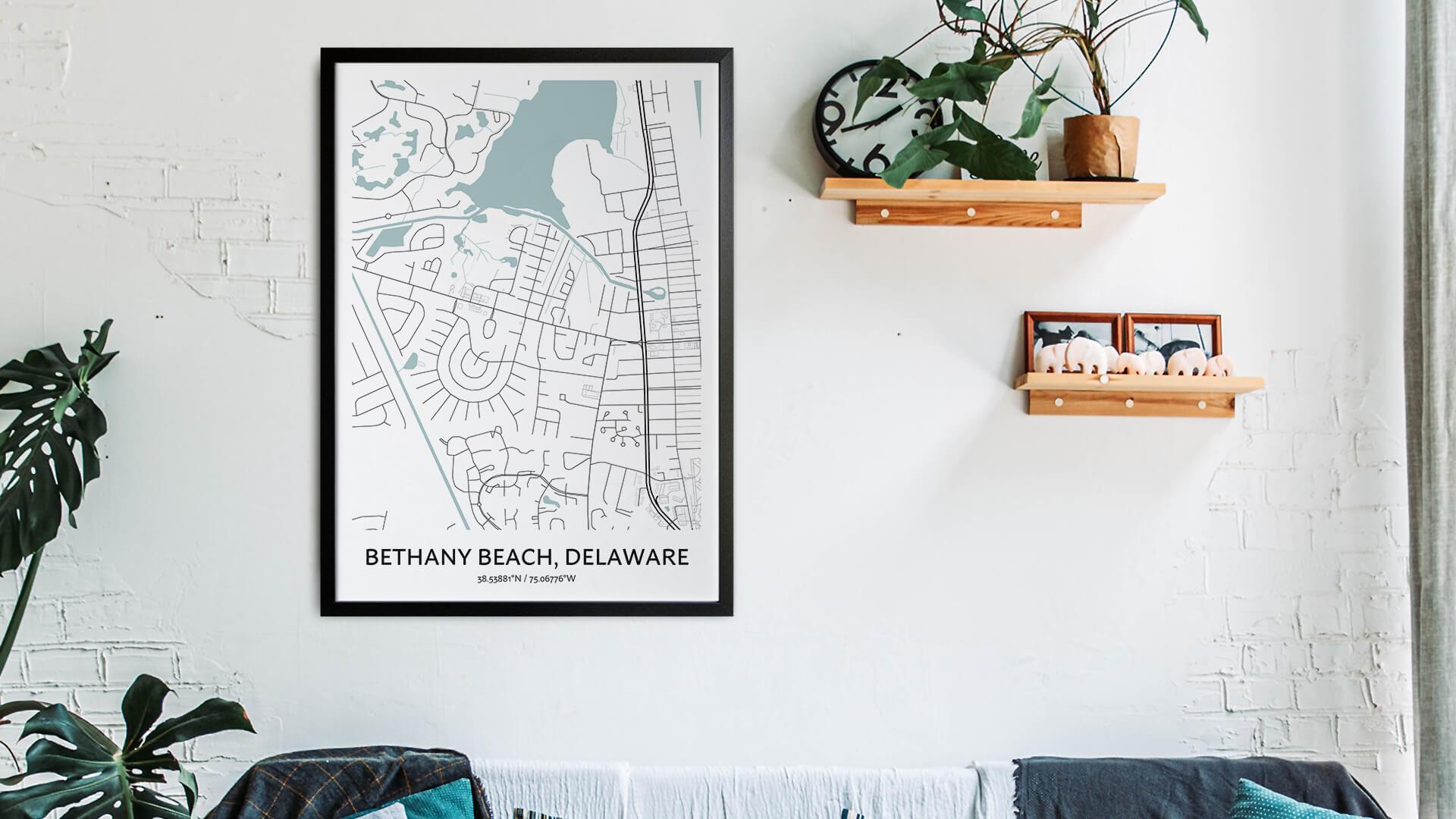 Bethany Beach map art