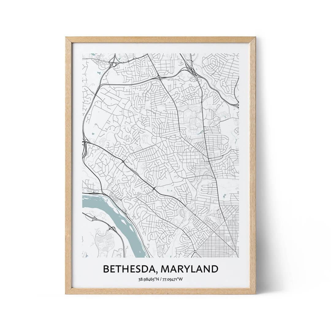 Bethesda city map poster