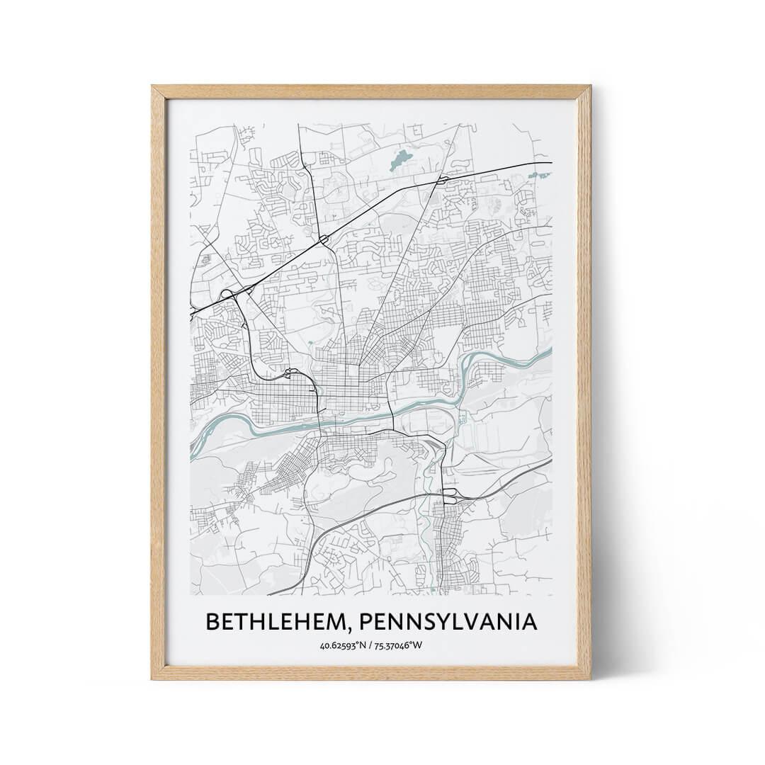 Bethlehem city map poster