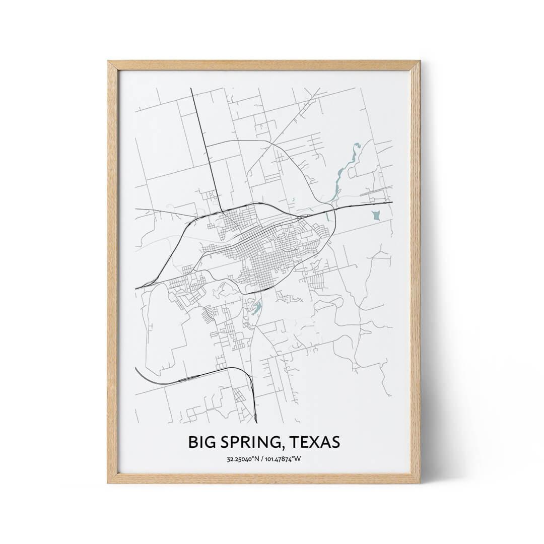 Big Spring city map poster