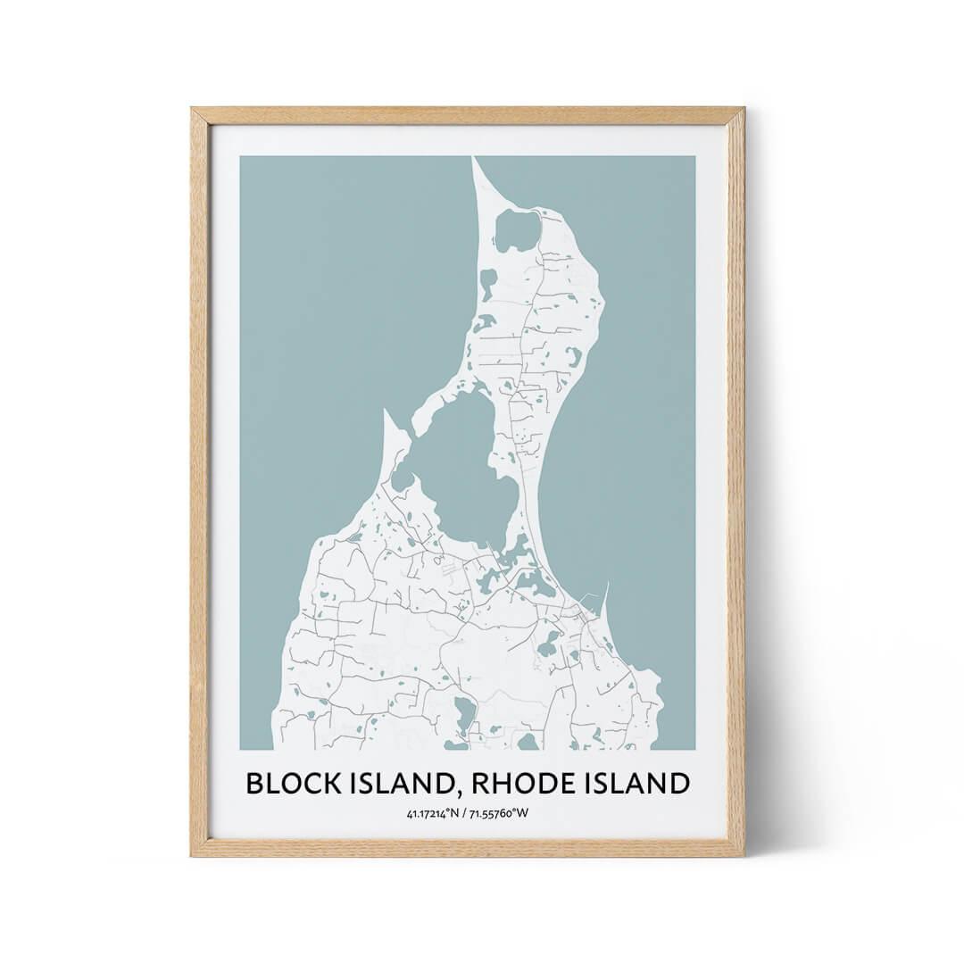Block Island city map poster