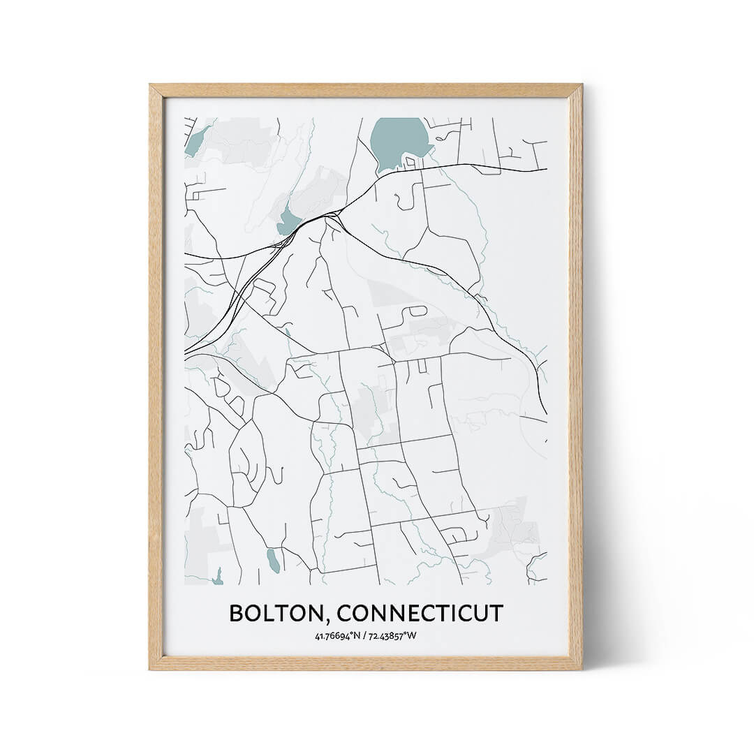 Bolton city map poster