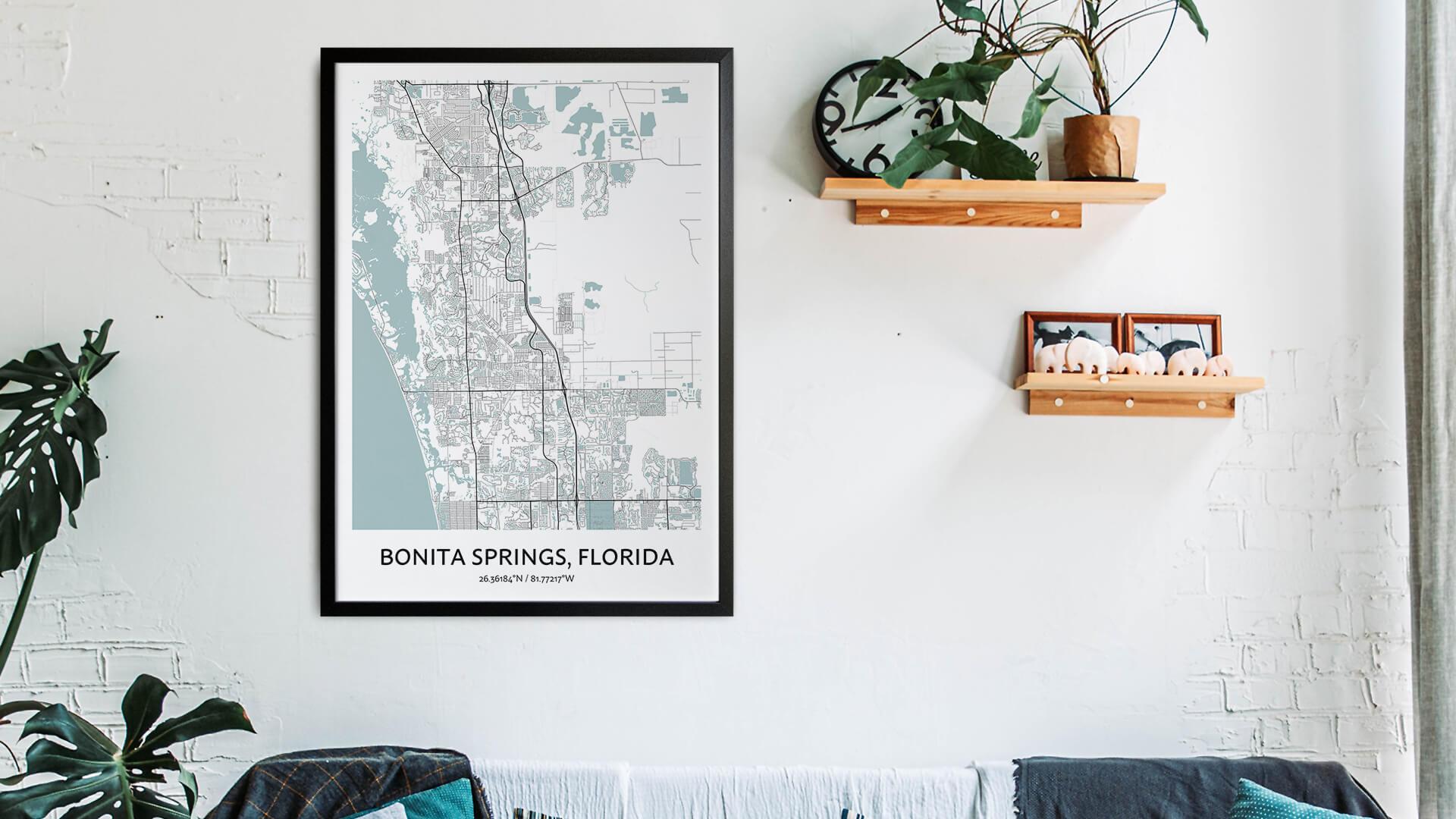 Bonita Springs map art