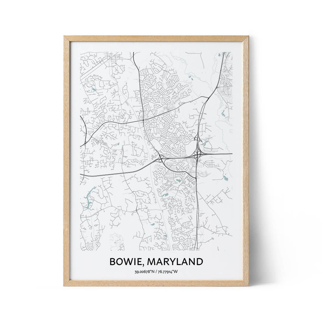 Bowie city map poster