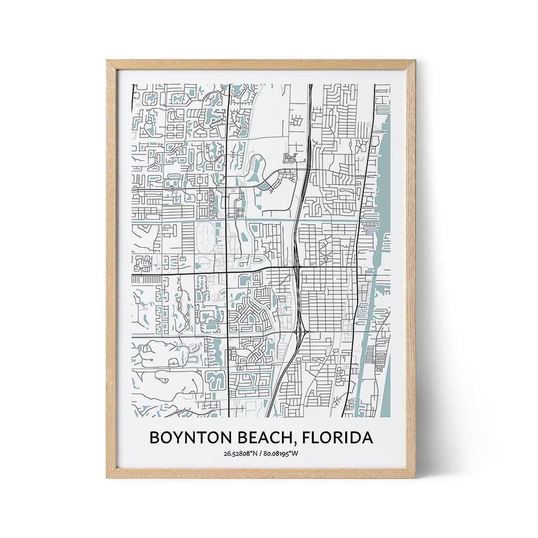 Boynton Beach city map poster