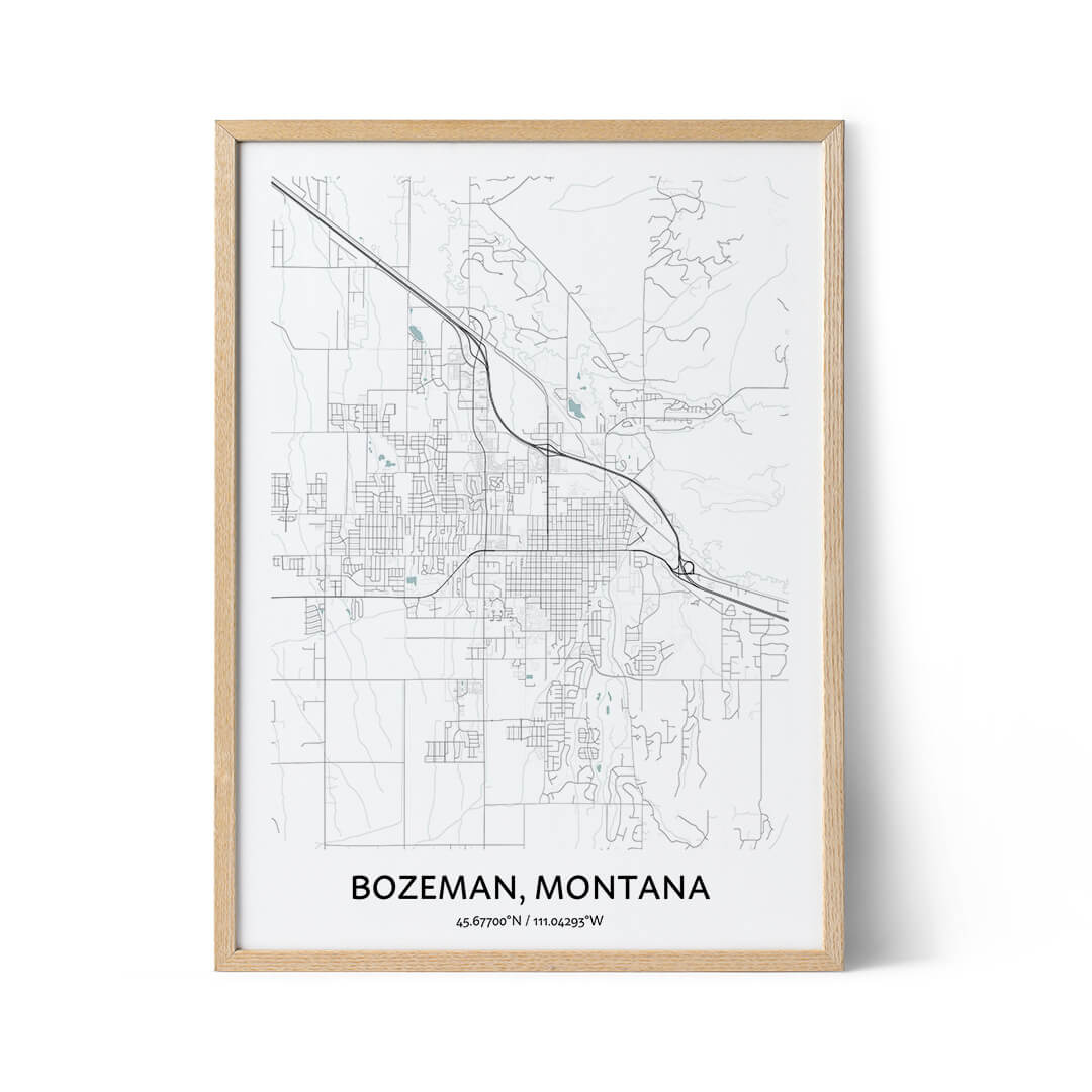 Bozeman city map poster