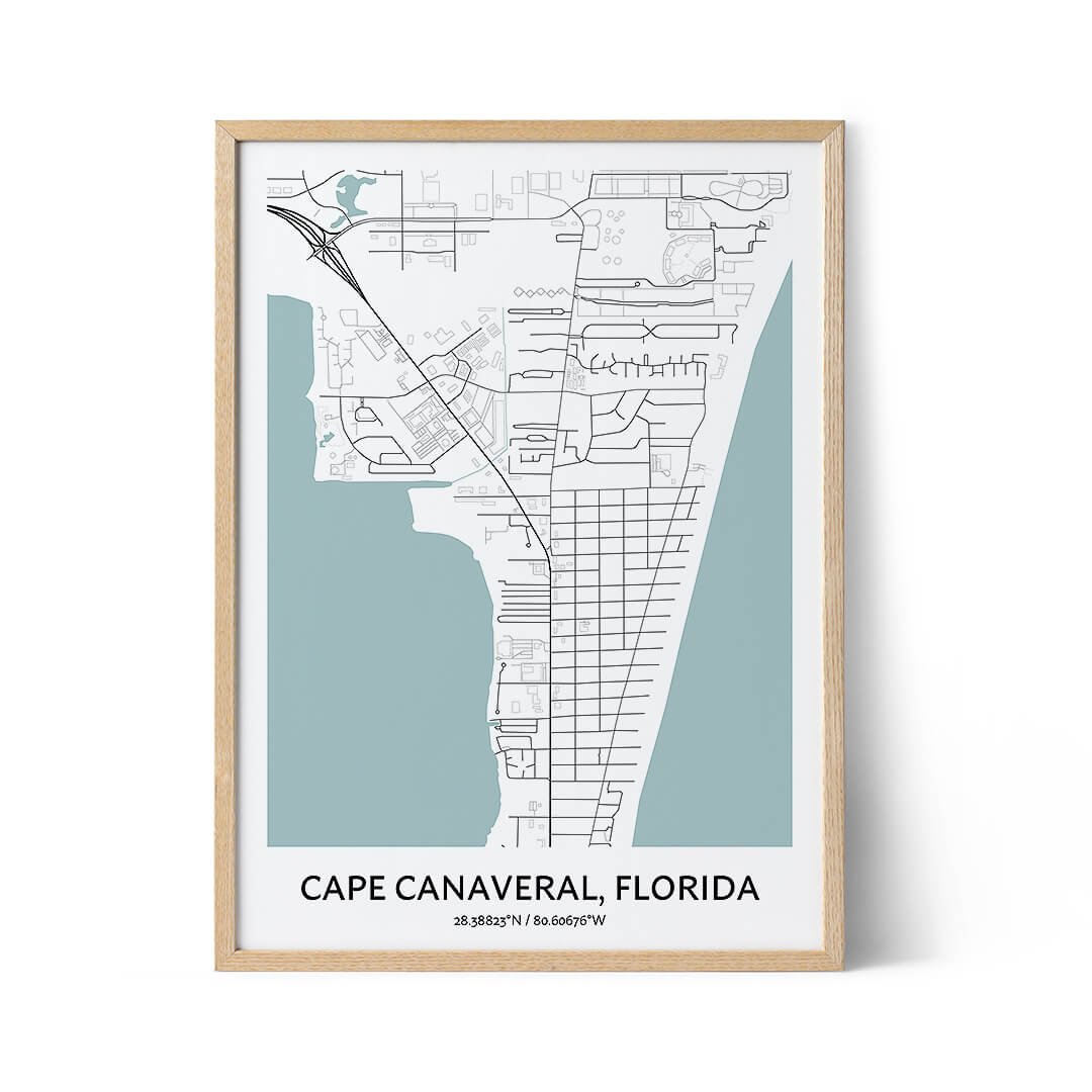 Cape Canaveral city map poster