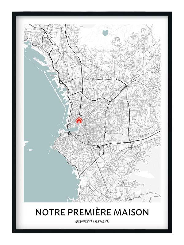 Carte Notre Première Maison personnalisée