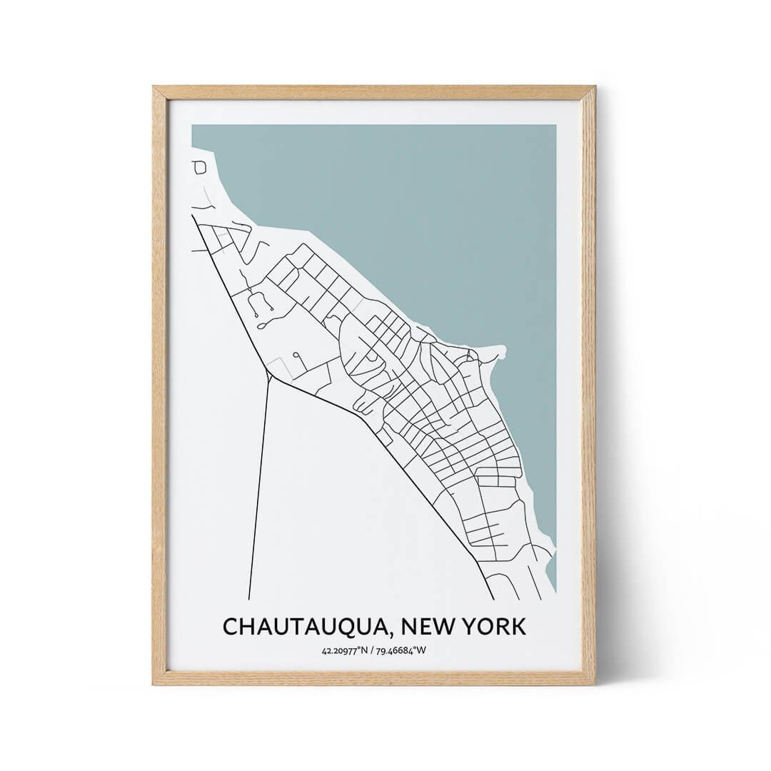 Chautauqua city map poster