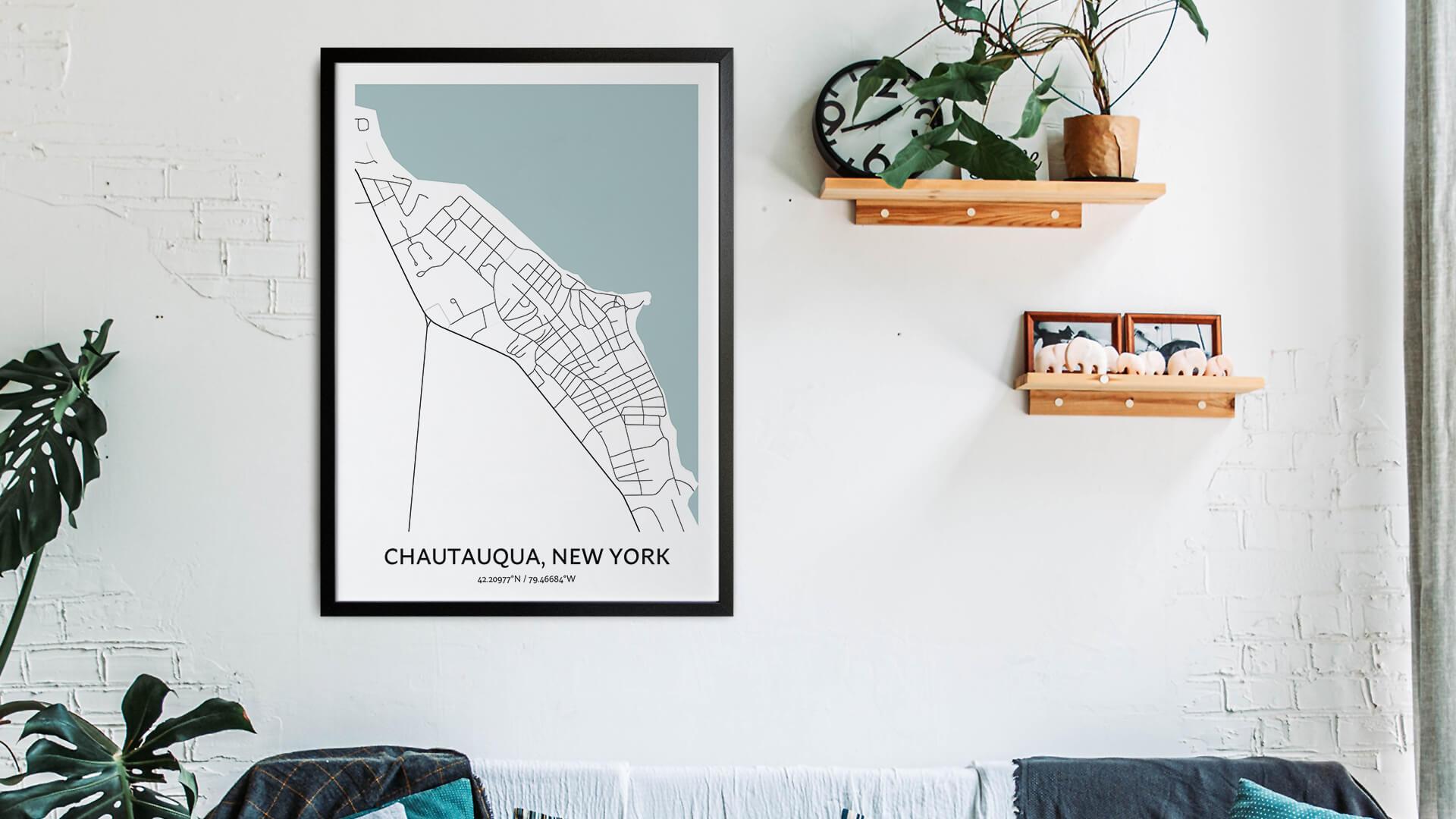Chautauqua map art