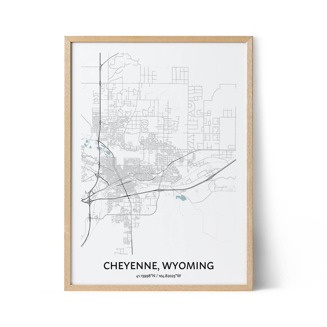 Cheyenne city map poster