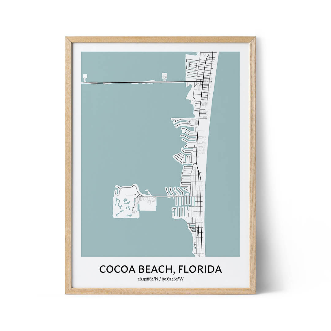 Cocoa Beach city map poster