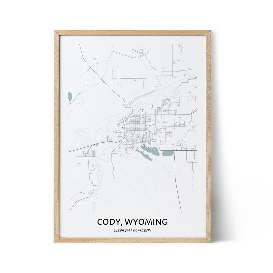Cody city map poster
