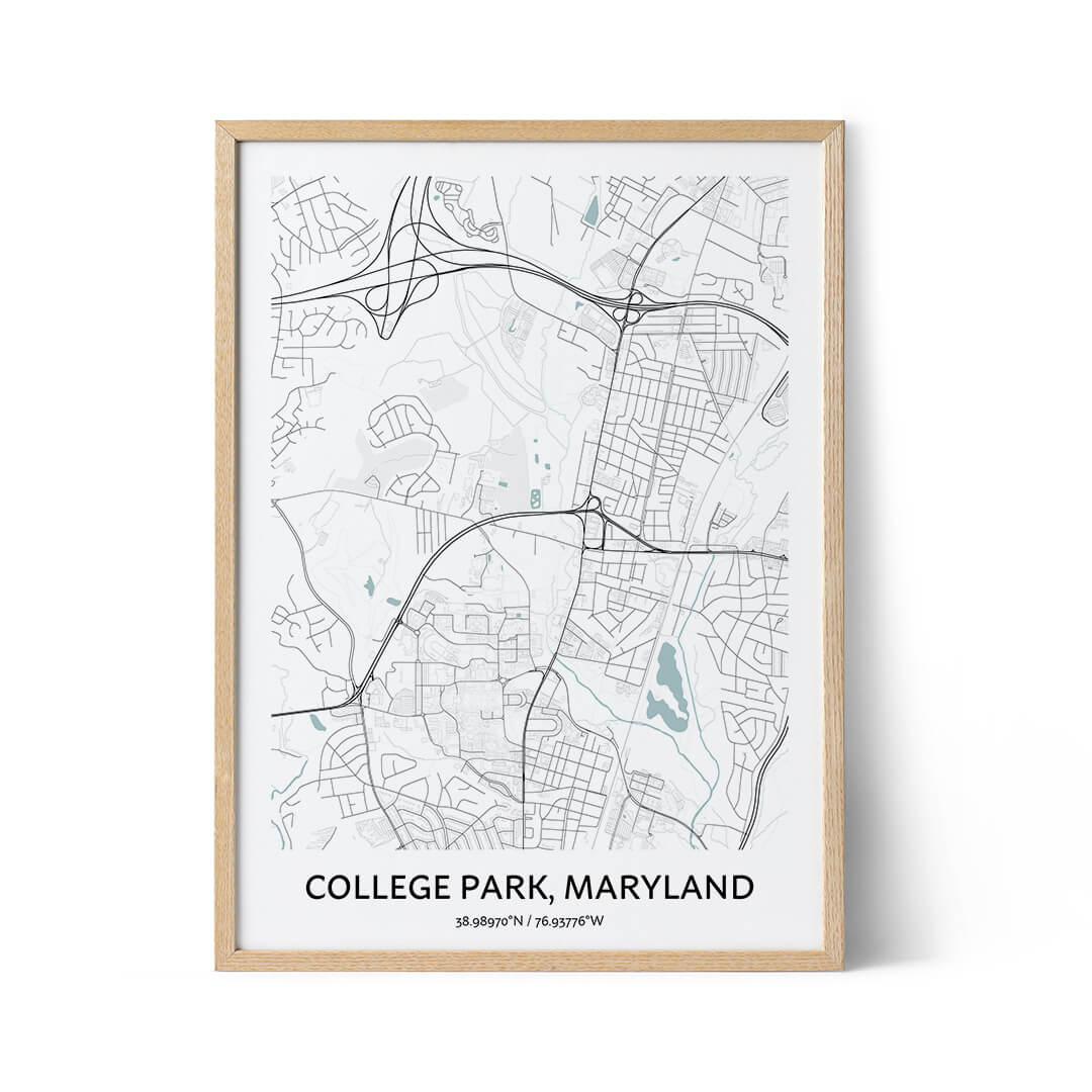 College Park city map poster