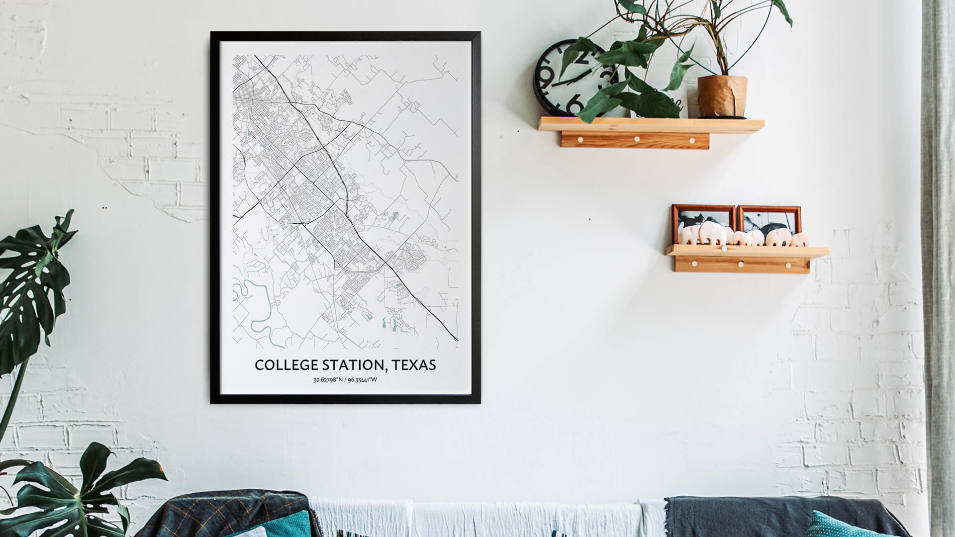 College Station map art