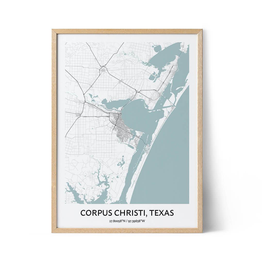 Corpus Christi city map poster