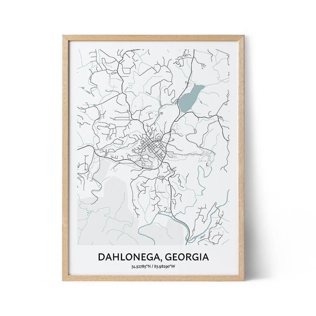 Dahlonega city map poster