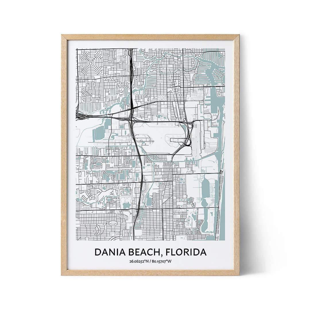 Dania Beach city map poster