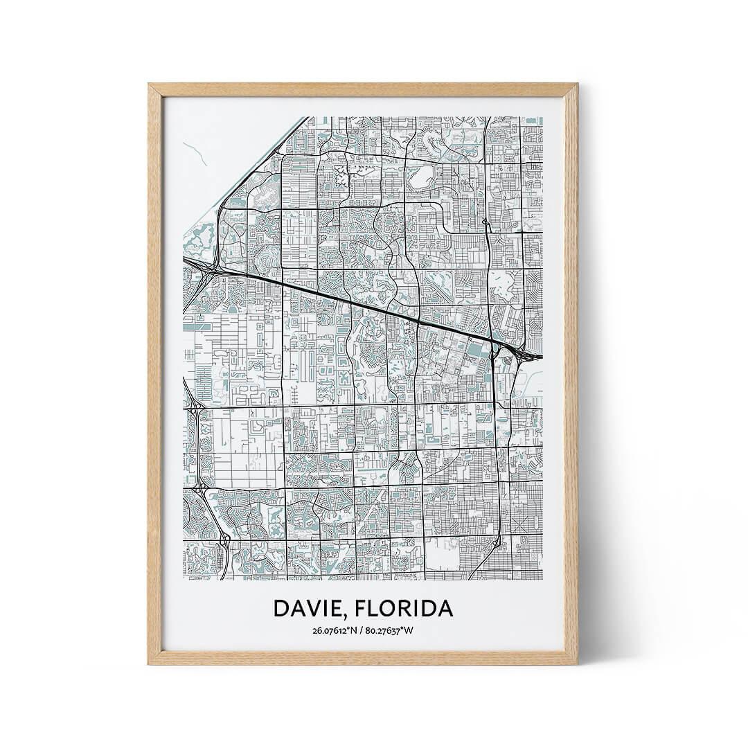 Davie city map poster