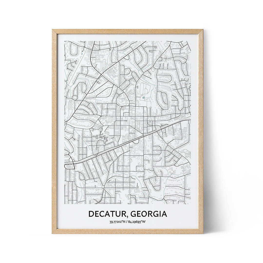 Decatur city map poster