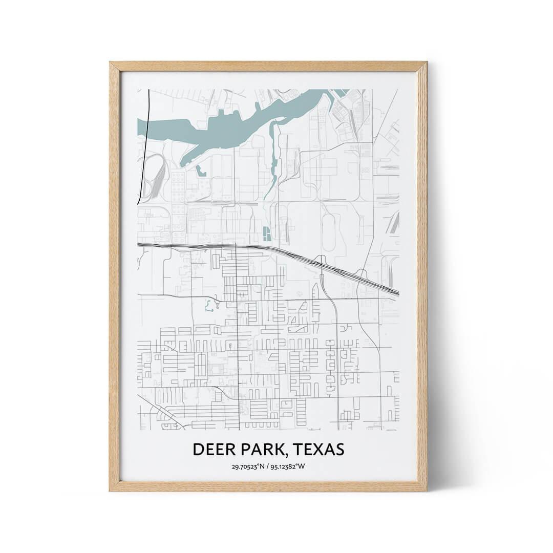 Deer Park city map poster