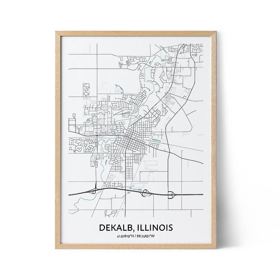 Dekalb city map poster