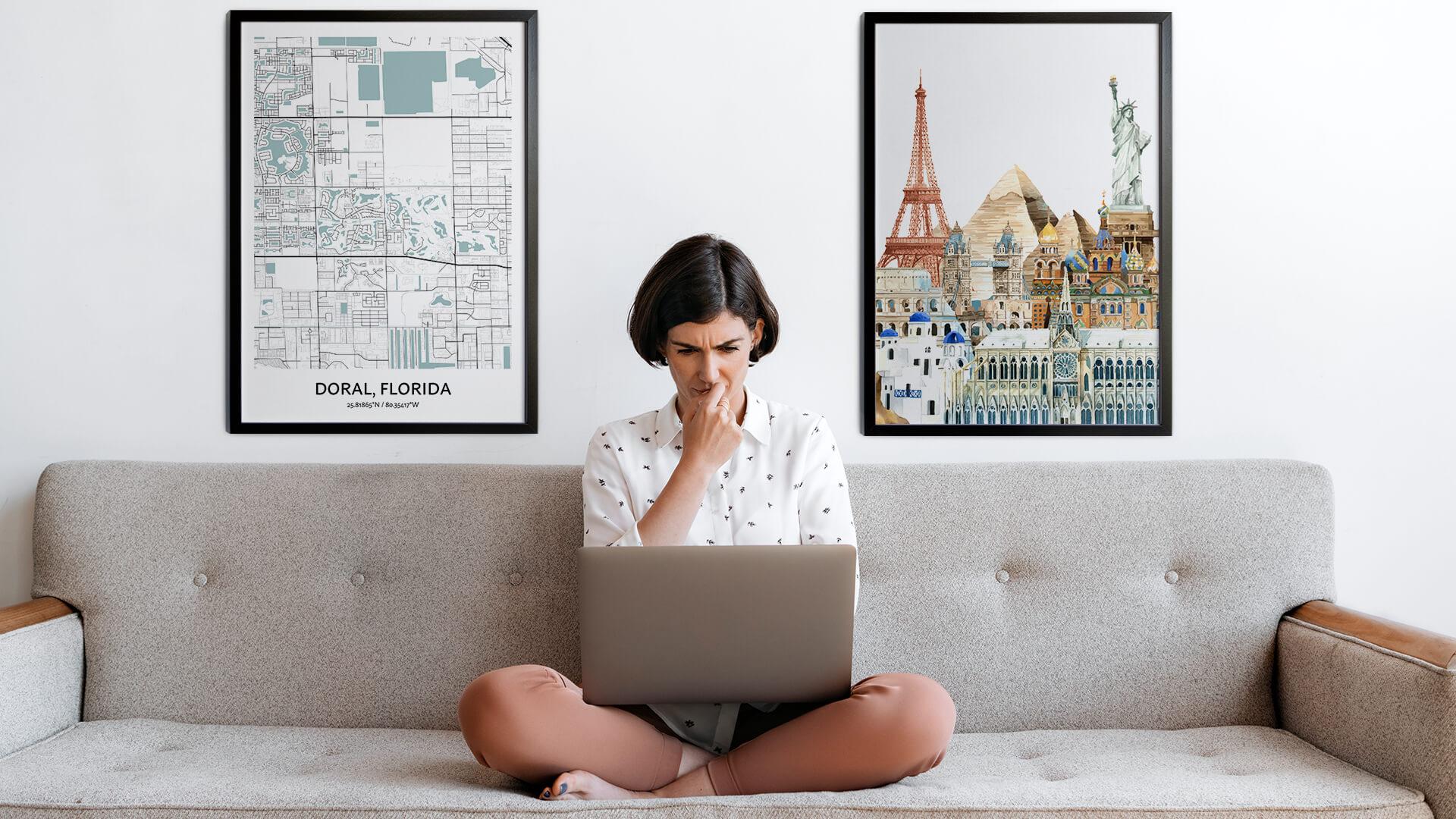 Doral city map art