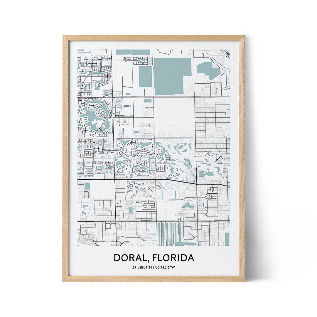 Doral city map poster