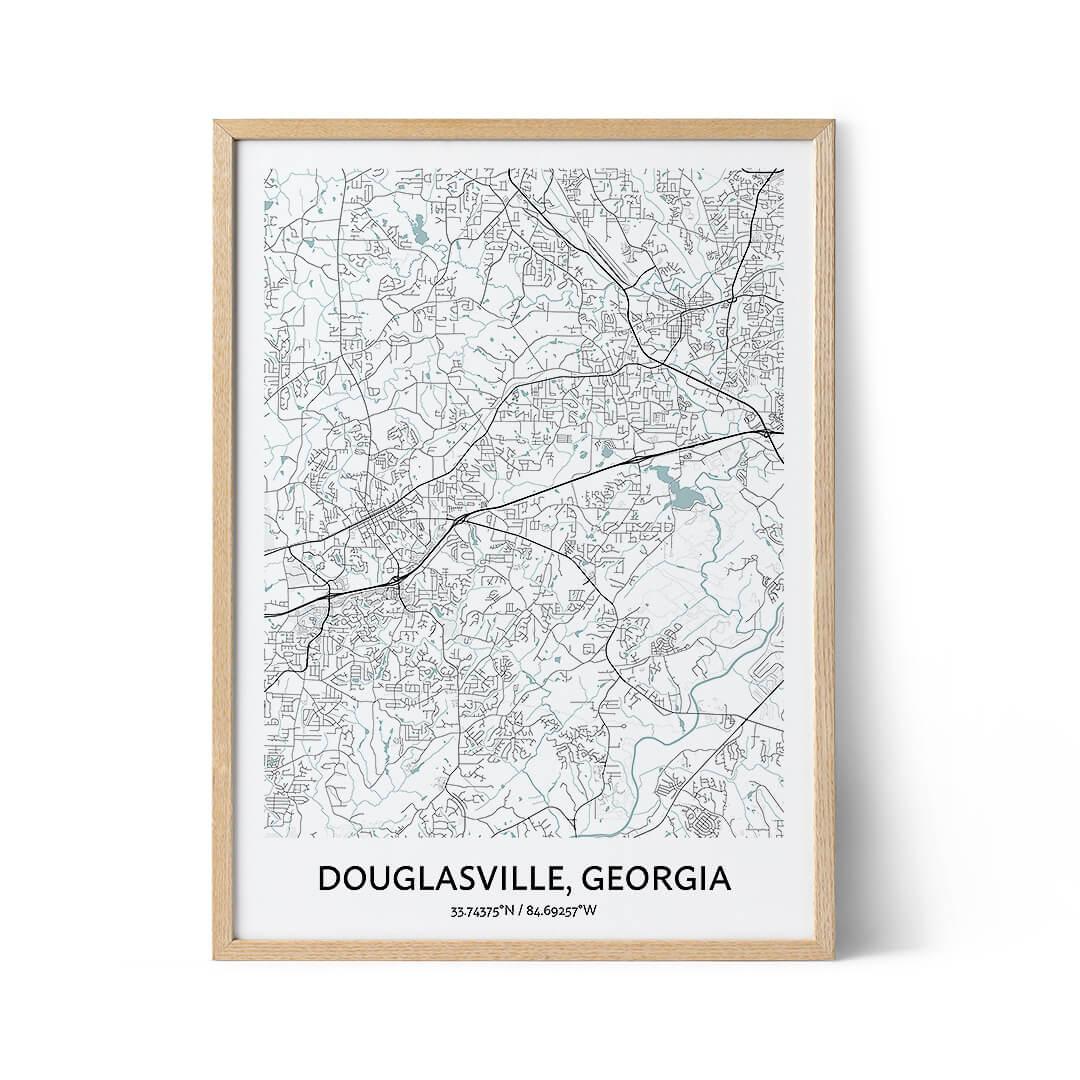 Douglasville city map poster