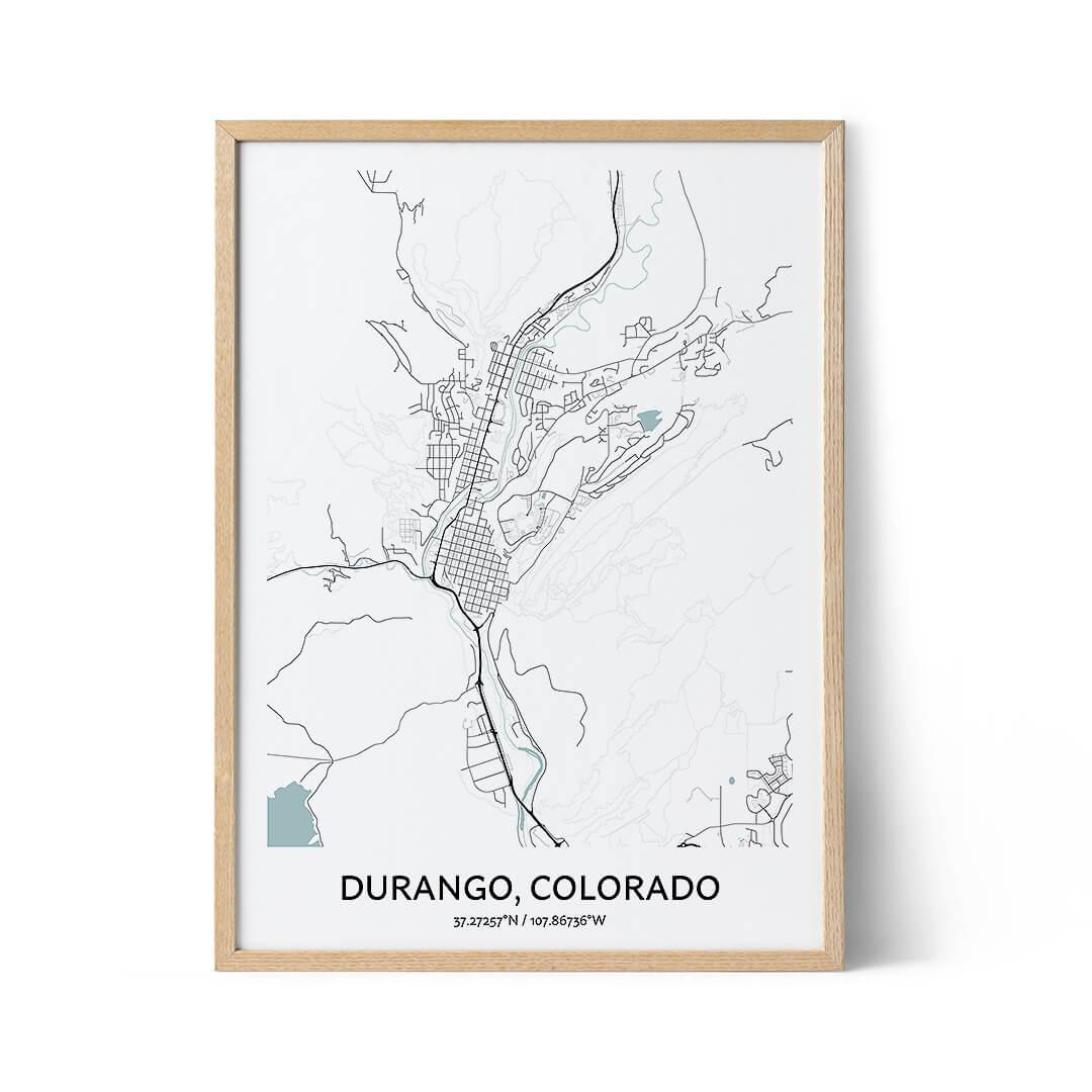 Durango city map poster