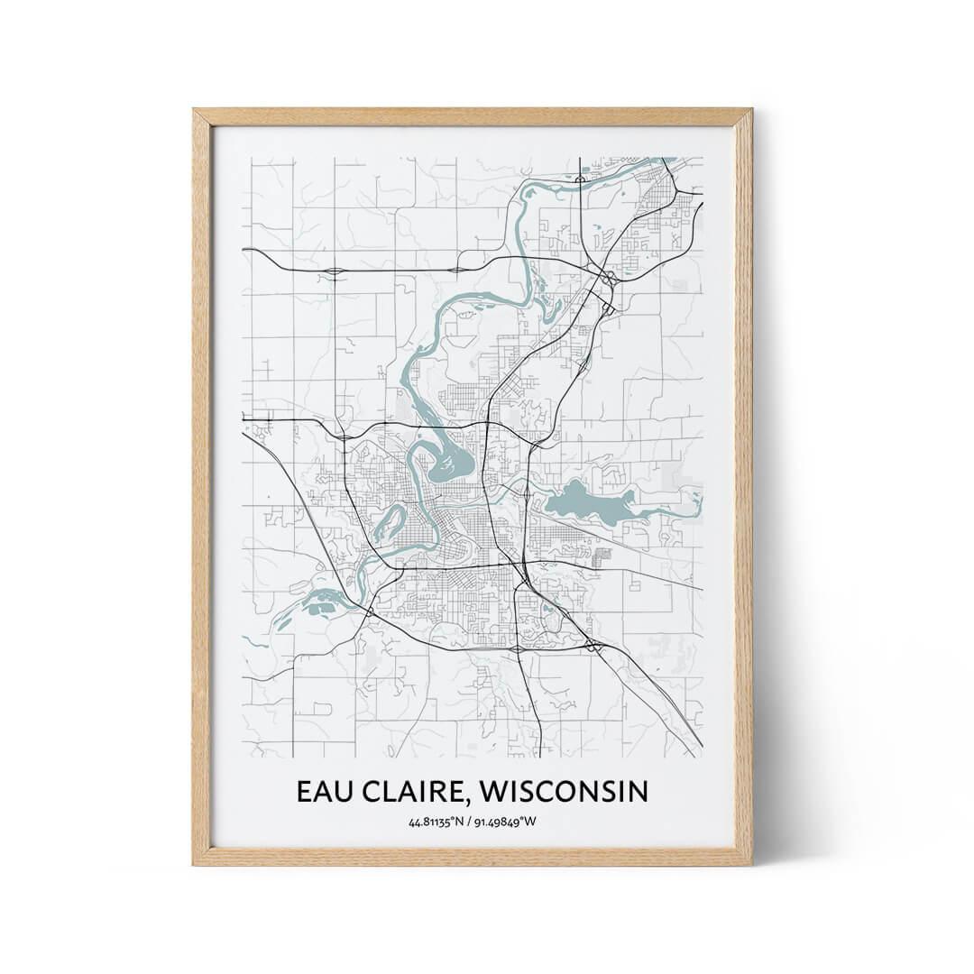 Eau Claire city map poster