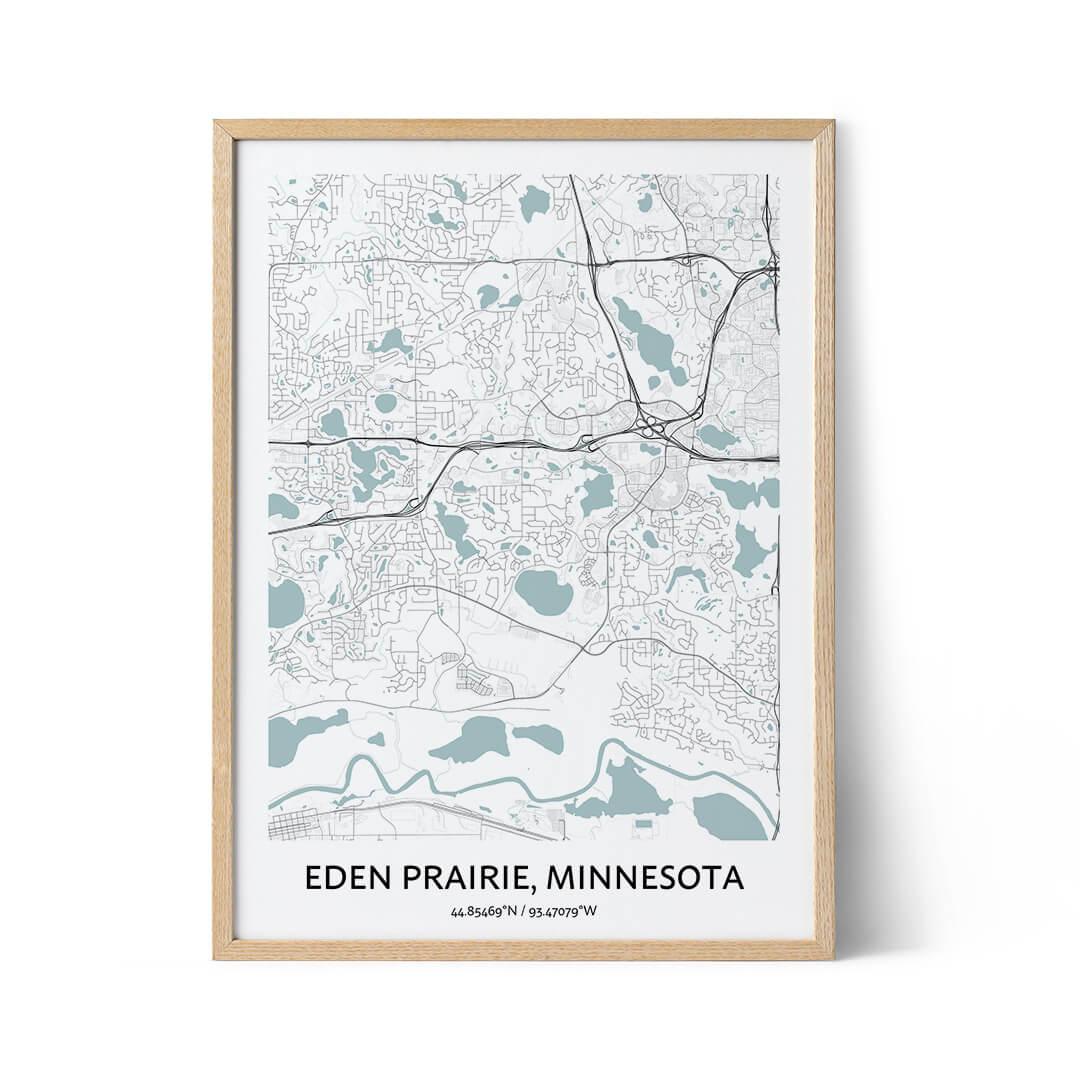Eden Prairie city map poster