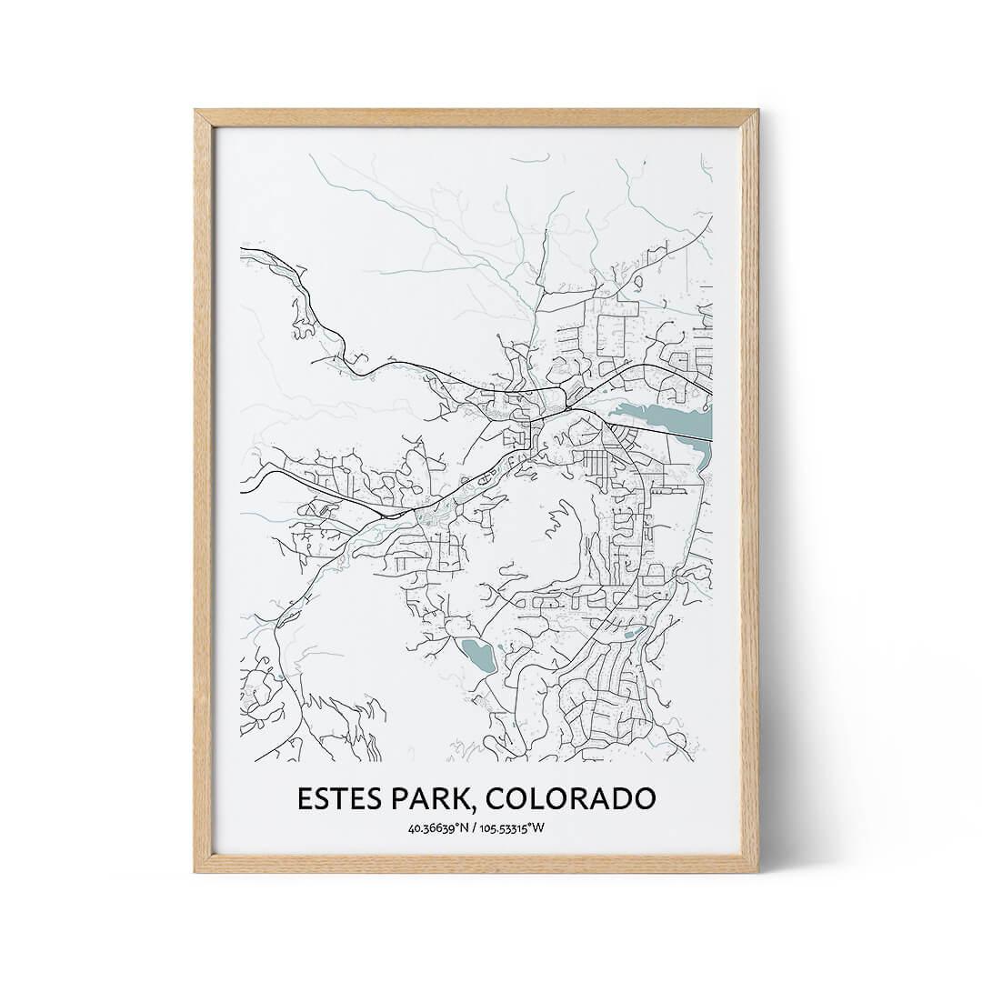 Estes Park city map poster