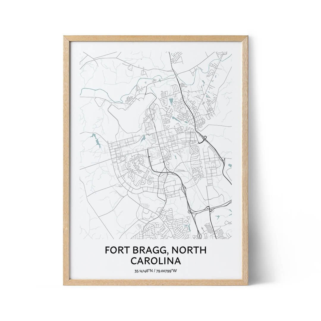 Fort Bragg city map poster