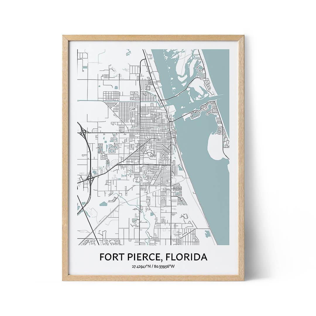 Fort Pierce city map poster