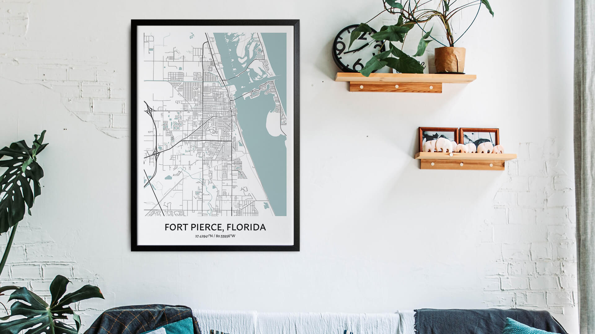 Fort Pierce map art