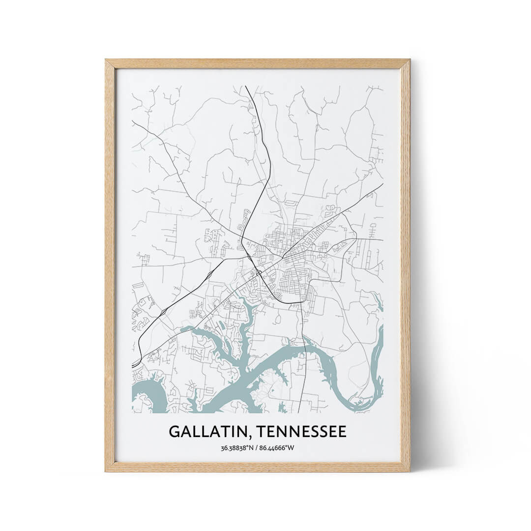 Gallatin city map poster