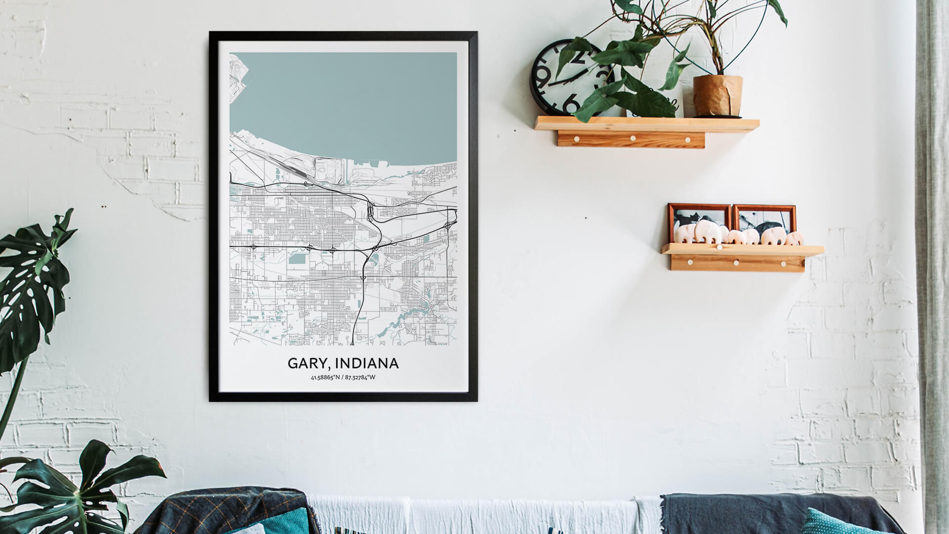 Gary map art