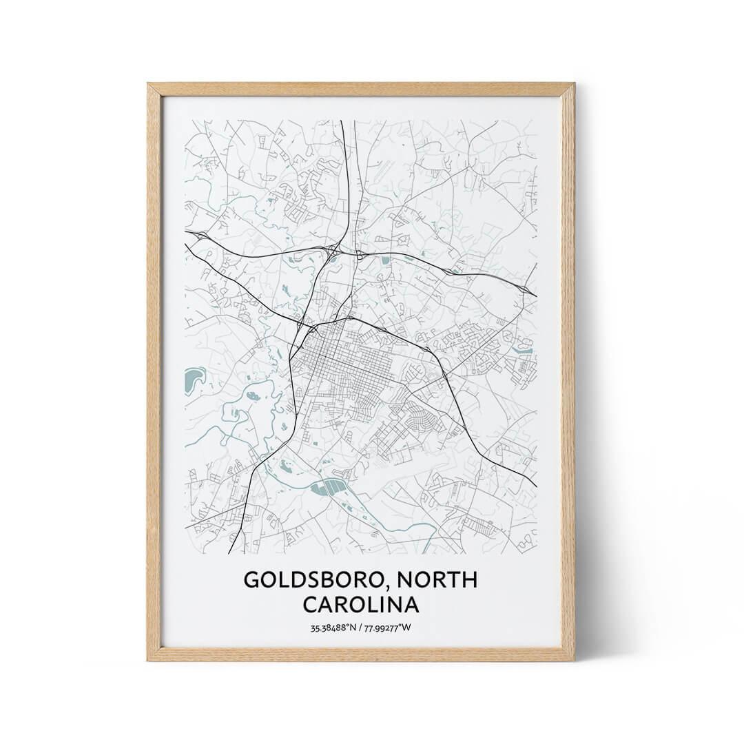 Goldsboro city map poster