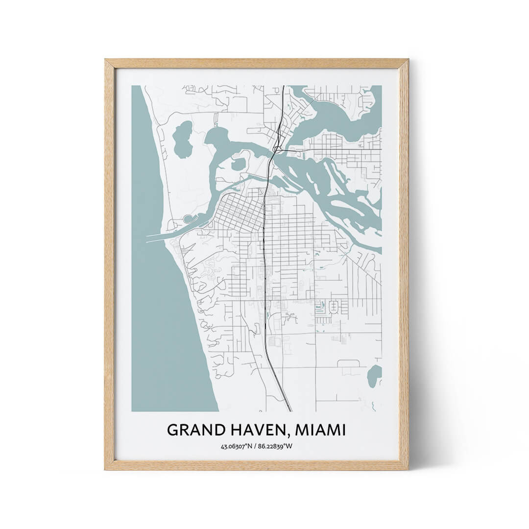 Grand Haven city map poster