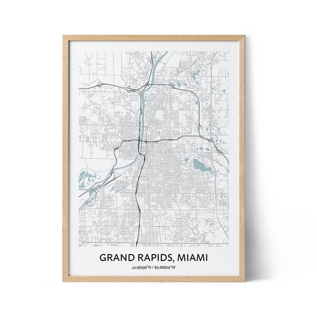 Grand Rapids city map poster